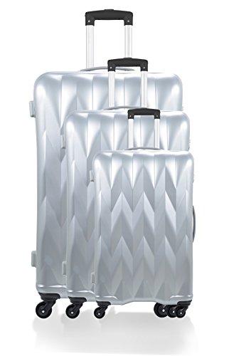 Manoukian Set di valigie, argento (Grigio) - BD-3612