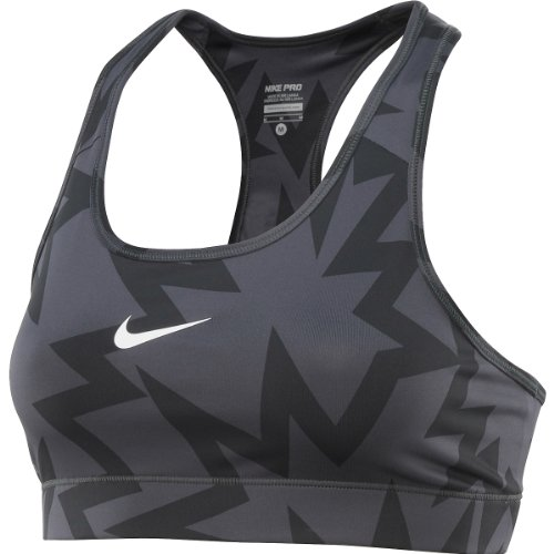 NIKE Pro Printed Ladies Sports Bra, Anthracite, XL