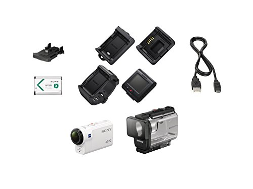 Sony-FDRX3000RW-4K-HD-Recording-Action-Cam-Live-View-Underwater-Camcorder-White