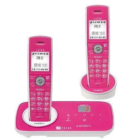 5c642d282f79 Uniden♪デジタルコードレス留守番電話機♪☆可憐 子機2台タイプ ローズ DECT3280