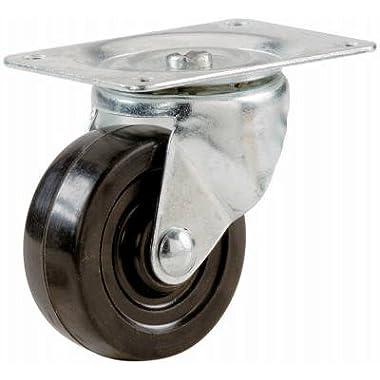 Shepherd Hardware 9477 Soft Rubber Swivel Plate Caster-2