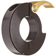Ruland MQCL One-Piece Clamping Shaft Collar, Quick Clamping, Anodized Aluminum, Metric