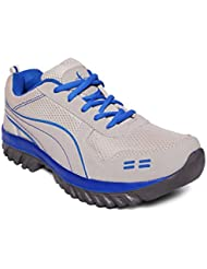 D'solz Men's Synthetic Leather & Mesh Lace Up Sports Shoes - B01J5ZMR6U