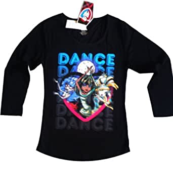 New Girls MONSTER HIGH Long Sleeve Tee / T Shirt / Top (7 - 8 Years, Black)