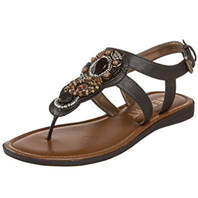 Report Women's Calla Beaded Sandal,Black,5 M US
