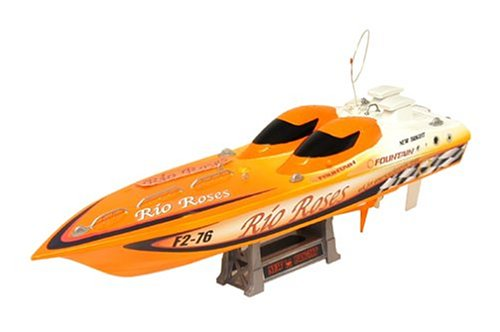 radio controlled 23 fountain boat with stand orange 27 mhz. Black Bedroom Furniture Sets. Home Design Ideas