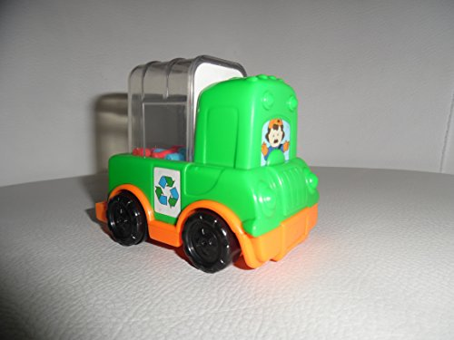 "Mcdonalds Happy Meal Toy Fisher Price Little People Push Truck Poping Recycle Green 3"" - 1"