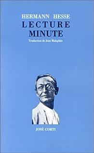 Lecture minute par Hermann Hesse