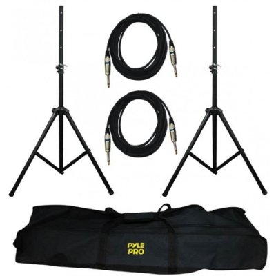 Pyle Pro Pmdk102 Heavy-Duty Pro Audio Speaker Stand And .25'' Cable Kit-By-Pyle Pro