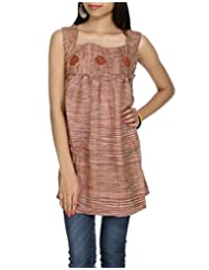 Rajrang Indian CasuaL Wear Wear Womens CLothing Top Khadi Kurta BLouse Size S - B004CVSRGC