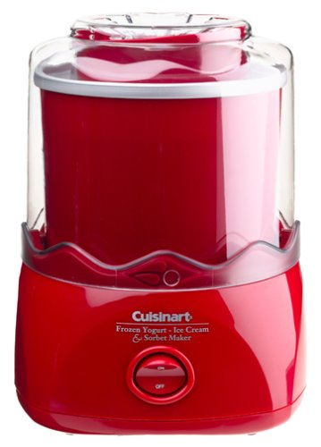 Cuisinart ICE-20R 1-1/2-Quart Automatic Ice Cream, Frozen Yogurt & Sorbet Maker, Red