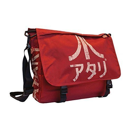 Atari Japanese Logo 100% Polyester Large Interior Messenger Bag - Crimson Red
