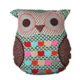 Sass & Belle Green Owl Cushion With Inner - 36 X 40 Cm