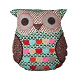 Sass & Belle Green Owl Cushion With I...