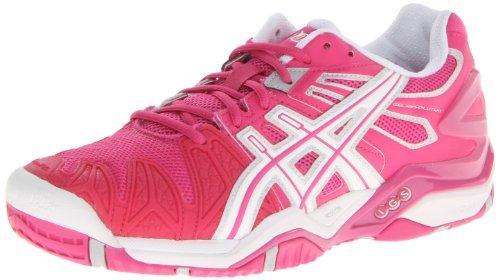 ASICS Women's GEL-Resolution 5 Tennis Shoe,Fuchsia/White/Silver,11 M US