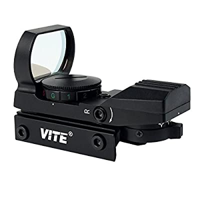 SVBONY Red and Green Dot Sight Airsoft Sights Reflex Sight Tactical 4 Reticles 5 Brightness Levels 20mm Rail Mount 33mm Reflex Lens and 2 Allen Screws