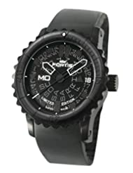 Fortis Men's 675.18.81 K B-42 Big Automatic Black PVD Rotating Bezel Rubber Watch