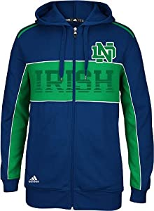Notre Dame Fighting Irish Adidas 2013 NCAA 3 Stripe Full Zip Sweatshirt by adidas