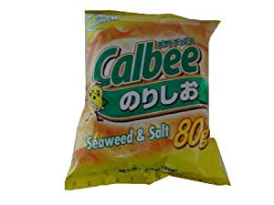 Calbee Potato Chips Seaweed Salt, 2.8-Ounce Units (Pack of 12) by Calbee