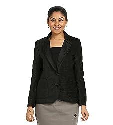 Fbbic Women's Short Coat (16135_Large_Black)