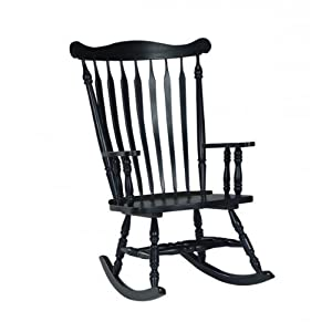 wooden rocking chair,