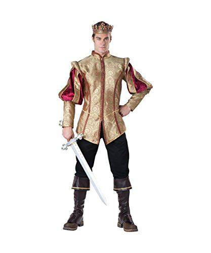 Royal Crown Renaissance Ren Fair Medieval King Prince Mens Costume