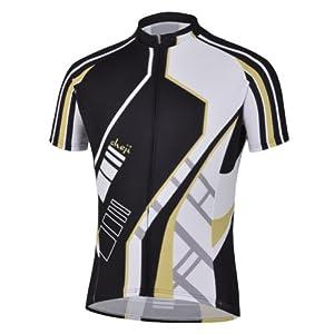 TOPTIE Men's Race Cut Bike Jersey With Sublimated Print - M