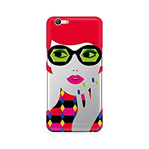Ebby Girl With Glasses Premium Printed Case For Oppo F1S