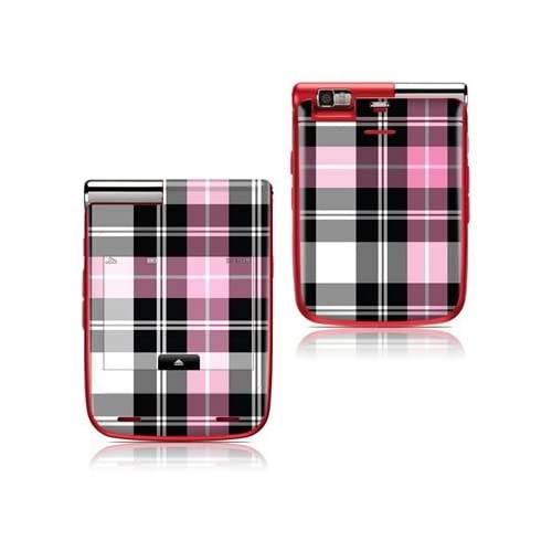 Pink Plaid Design Protective Skin Decal Sticker Cover for LG Lotus Elite LX610 Cell Phone
