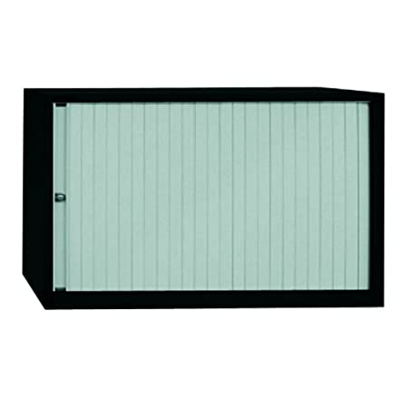 Bisley ET408/06/1S 69 cm Euro Tambour Silver Shutter with 1 Shelf - Black