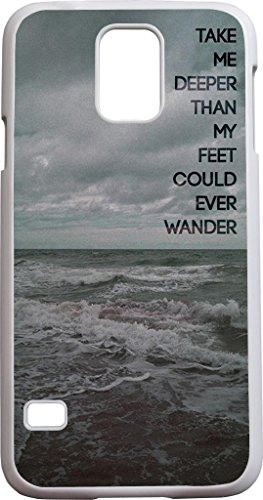 Take Me Deeper Than My Feet Could Ever Wander Bible Quote Christian Verses Pattern Theme Printing Protective Cover Protetor Sleeve Case For Sumsung Galaxy S5 Sv front-1003883