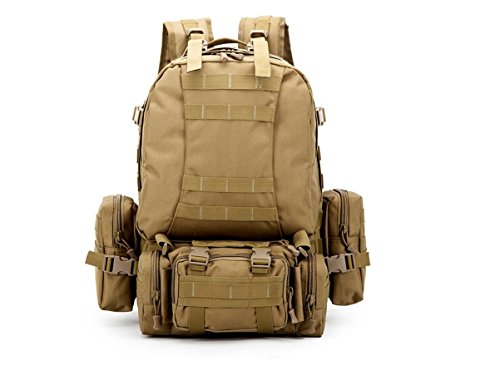 GP Tactical Combination Backpack, Camouflage Military Shoulders Bag, Multifunctional High Capacity Backpack For Outdoors,Come With A Badge As A FREE GIFT,Olive Green Style AS SHOWN