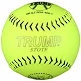 Trump® AK-EZ-NSA-400-Y AK-EZ Series 12 Inch 44/400 NSA Synthetic Leather Softball (Sold in Dozens)