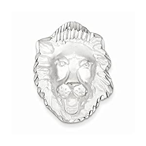 Sterling Silver LION HEAD Charm