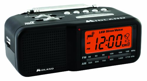 Midland WR11 AM/FM Clock Radio with NOAA All Hazard Weather Alert