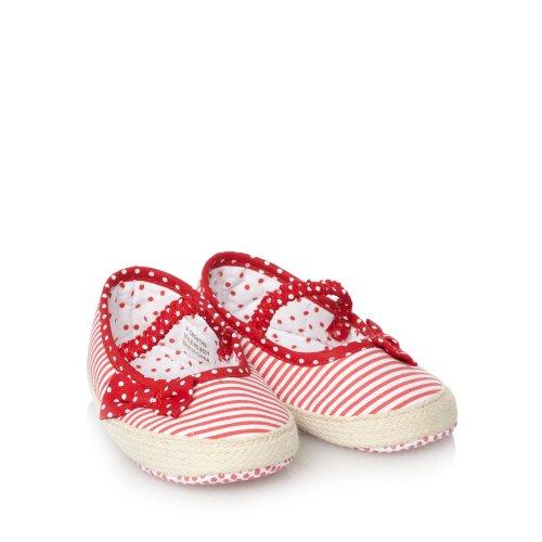 J by Jasper Conran J By Jasper Conran Designer Babies Red Striped Espadrille Booties