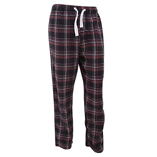Cargo Bay Herren Flanell Pyjama Hose mit Muster (M) (Pflaume Kariert)