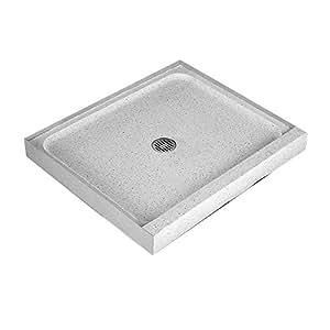 Shower Base, Terrazzo, 42 in. x 32 in. - Shower Doors