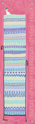 Oopsy Daisy Growth Charts Princess and The Pea by Stephanie Bauer, 12 by 42-Inch