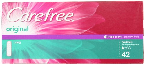 Carefree Original Long Scented, 42-count (Pack of 3)