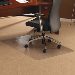 Cleartex Chair Mat Rectangular for Carpet Protection 1190x750mm Ref 11197523ER