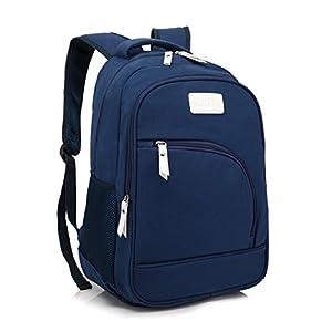 ZeleToile® Unisex Pro Multifunctional Casual Canvas Computer Backpack Schoolbag Traveling Bags Camping Bag Student School Backpack Rucksack Daypack Shoulder Belt Bag for Notebook Laptop PC 13 ~ 15 Inch - (Blue)