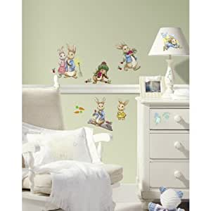 RMK2605SCS Peter Rabbit Pelar y palo Tatuajes de pared: Home & Kitchen