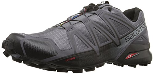 Salomon Men's Speedcross 4 Trail Runner, Dark Cloud/Black/Pearl Grey, 10 D US (Speedcross 3 compare prices)