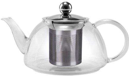 Uniware Glass Kettle Tea Pot, 1200ml (Heat Resistant Glass Tea Kettle compare prices)