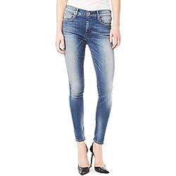 True Religion Damen Jeans Halle Super Skinny Zip WC508UA9, Größe:28;Farbe:Blau