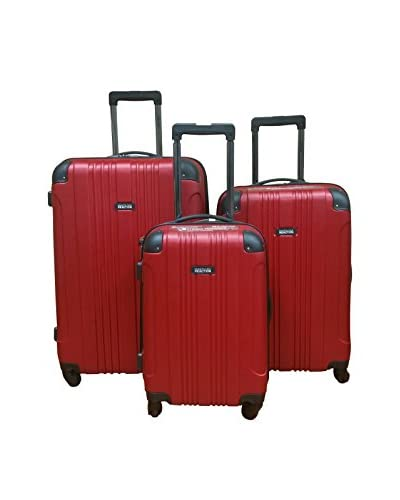 Kenneth Cole Reaction 3-Piece Out of Bounds Hardside Set, Red