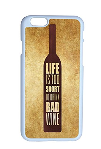 Vintage Personality Love Is To Short To Drink Bad Wine Quote On Bottle Hard Top Quality Plastic Cover Protector Sleeve Case For Apple Iphone 6 4.7 Inches front-967155
