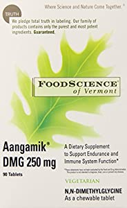 Food Science of Vermont AANGAMIK DMG, 250 mg, Chewable Tablet, 90 tablets