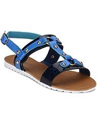 Yepme Women's Blue Synthetic Sandals